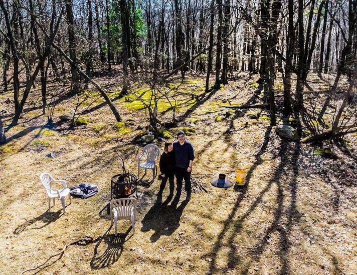 Campfire millennials outdoors  photo