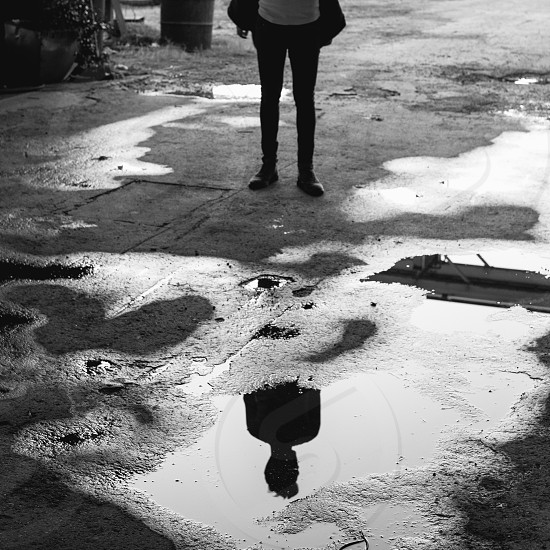 Guy in Industrial Reflection. photo