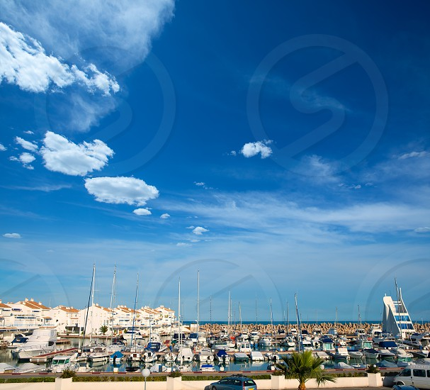 Alcossebre alcoceber marina port in Castellon of Valencian community spain photo