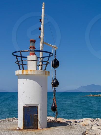 CABO PINO ANDALUCIA/SPAIN - MAY 6 : Beacon at Cabo Pino Spain on May 6 2014 photo
