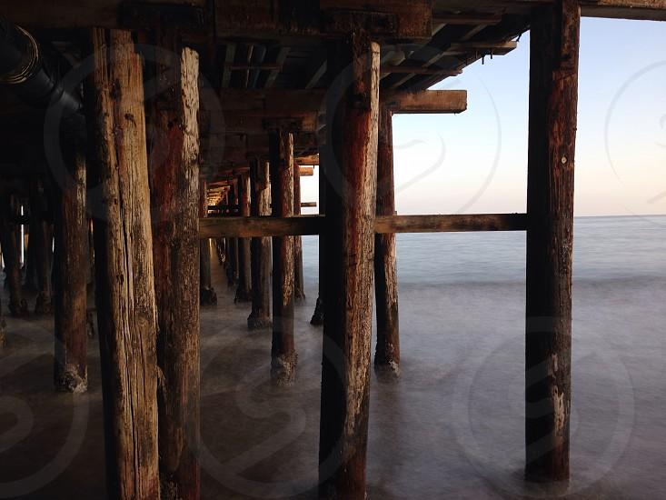 Wood pier beams photo