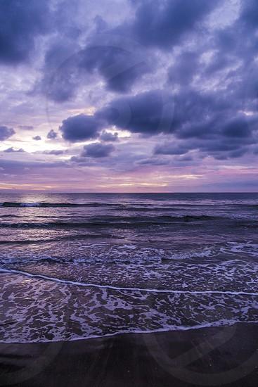 Sunrise in the coastline of Lanzarote Canary Islands Spain photo