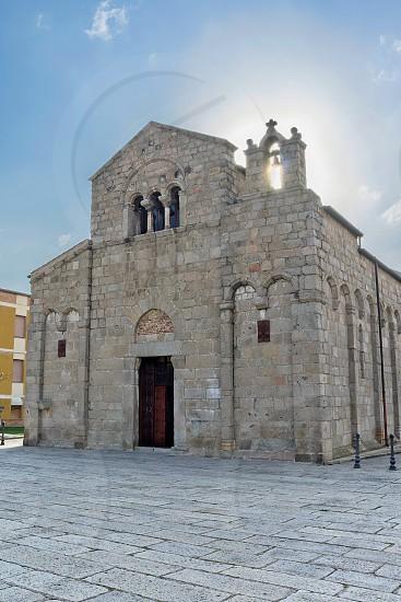 View of San Simplicio Basilica in Olbia Sardinia photo
