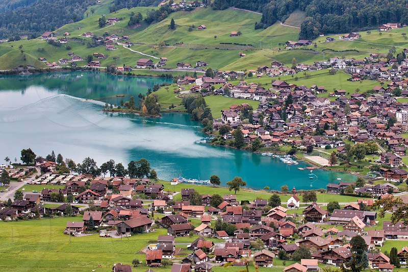 View of Brienz in the Bernese Oberland Region of Switzerland photo