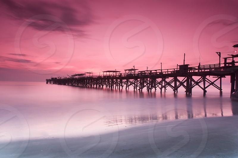 Pier Florida water sunset  photo
