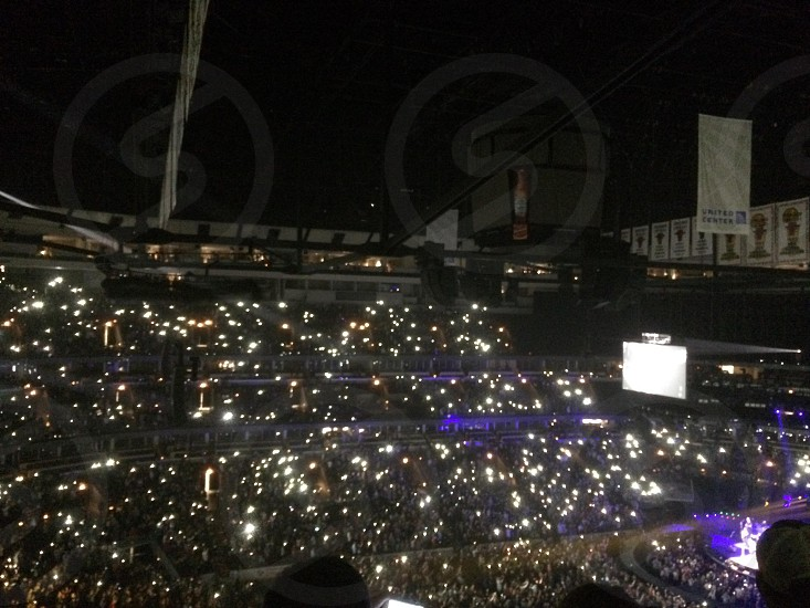 Lights in the crowd.  photo