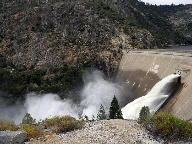 O'Shaughnessy Dam Hetch Hetchy Reservoir Yosemite National Park photo