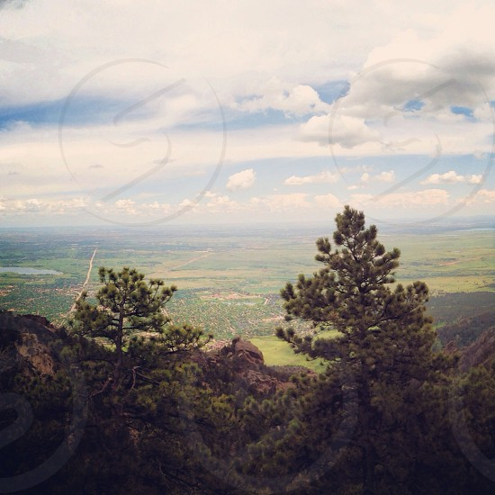Mountain view of Boulder and surrounding areas photo