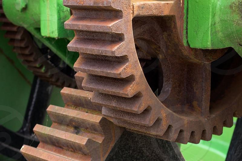 Gears of heavy machinery photo