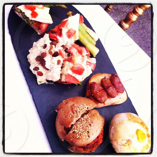 Spanish pintxos platter photo