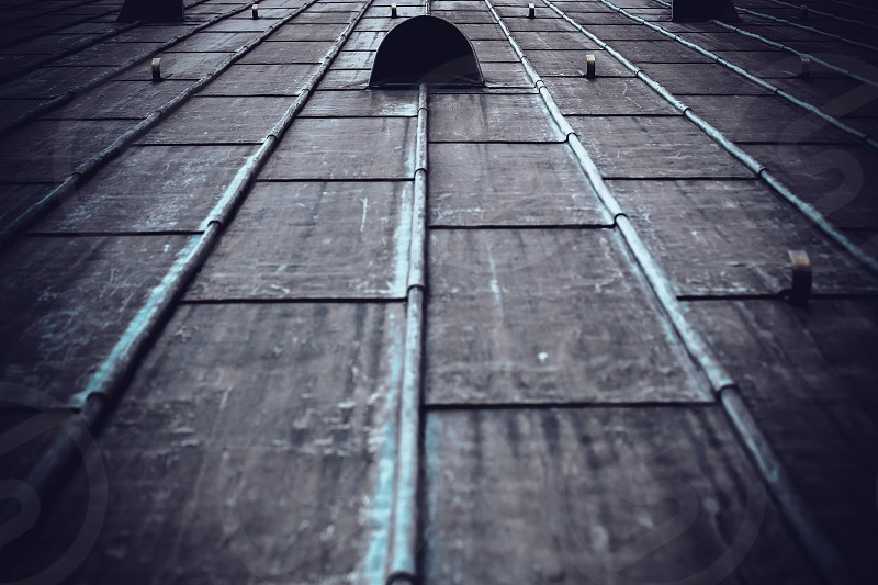 Roof of the Cologne Cathedral lines pattern repetition roof industrial photo
