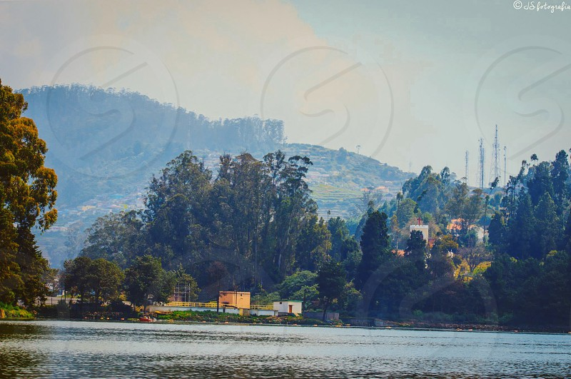 Ooty lake Ooty India. One of the calmest and nicest places in the south of India!  photo