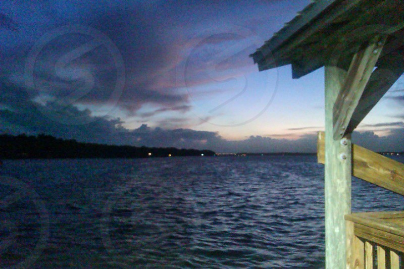 night dock Florida sunset fishing photo