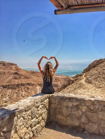 Dead sea israel desert photo