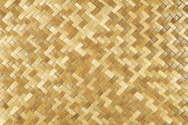 Weaved rattan mat background. photo