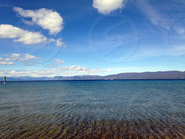 clear sea vie w photo