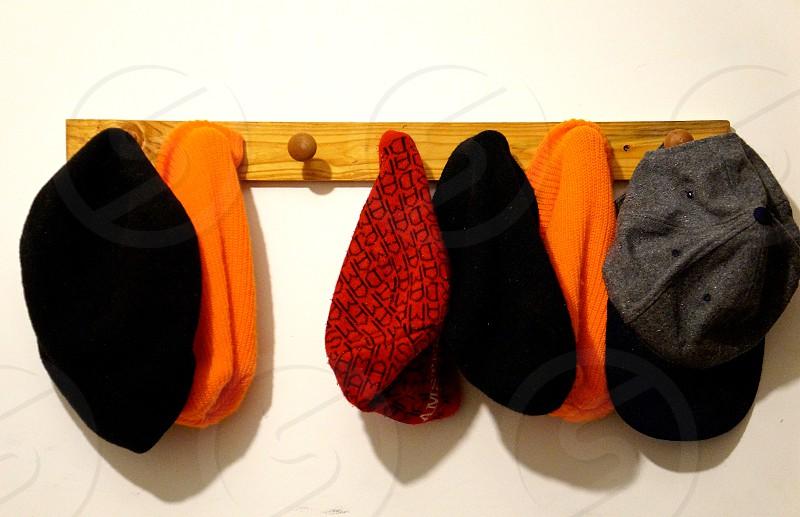 Several hats. photo