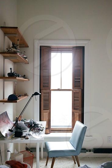 brown door opened photo