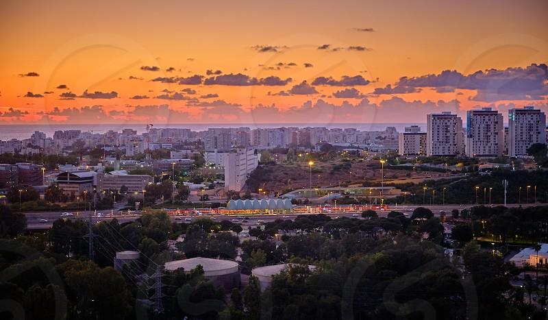 bird's eye view Tel Aviv Israel  photo