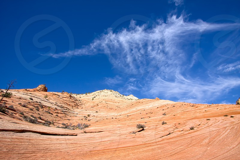 Strange Cloud Formation in Zion National Park photo