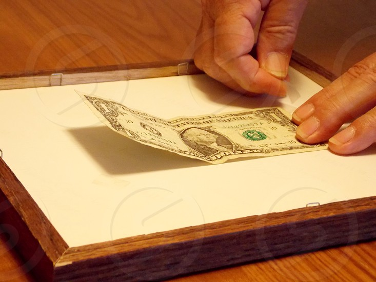 1 dollar bill us photo