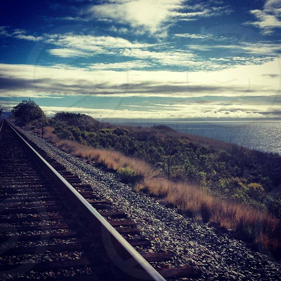 black framed rail road  photo