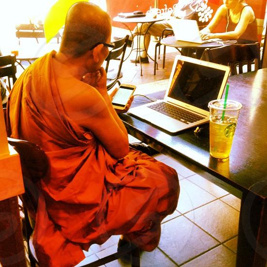 Modern Monk.  photo