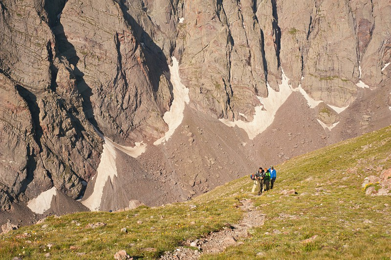 Hiking adventure Rocky Mountains Colorado outdoors nature backpacking camping photo