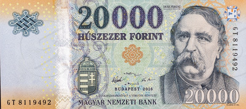 Hungarian forint forints money banknote currency photo