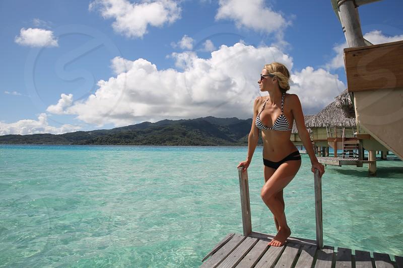 ModelBikini Luxury Resort Beauty Paradise Tahiti Fitness photo