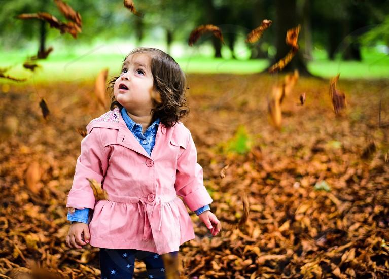 Autumn fall wonder toddler baby park season photo