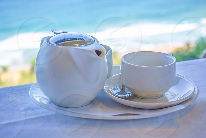 Seaside breakfast tea teapot  photo