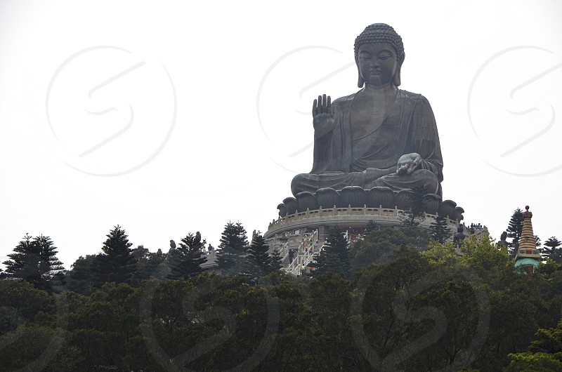 "Tian Tan Buddha ""Big Buddha"" on Lantau Island in Hong Kong. photo"