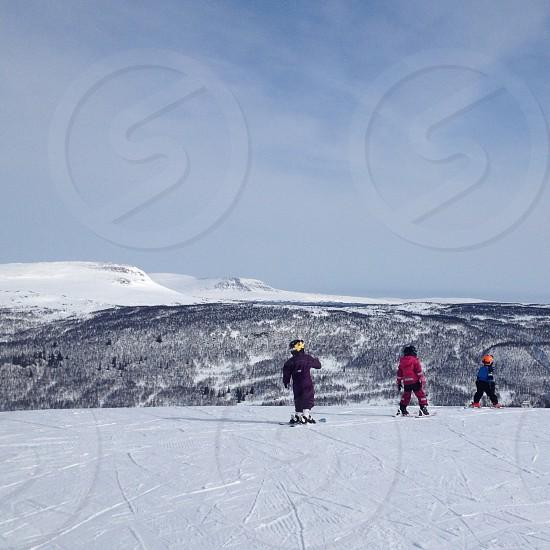 kids skiing photo