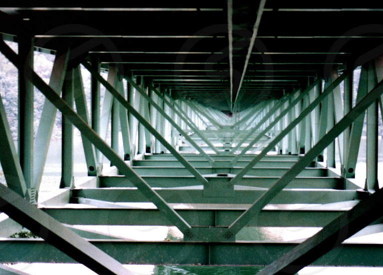 View of under supports of bridge photo