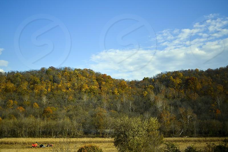 Farm land landscape Kentucky fall harvest plow  photo