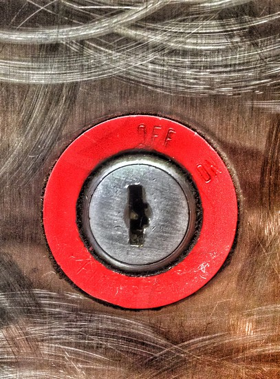 red and gray metal keyhole photo