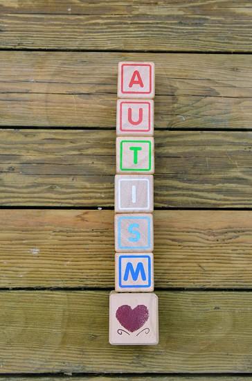 Autism blocks photo