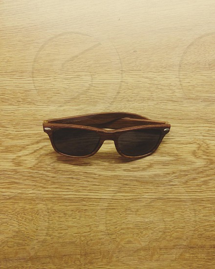 sunglasses with brown frame photo
