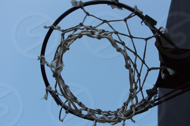 net string basketball morning goal park photo