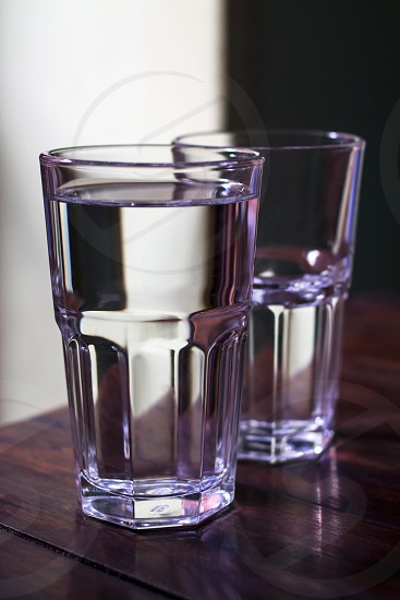 two glasses of water photo