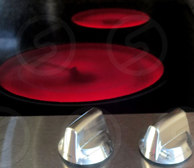 Red hot burners control knobs photo