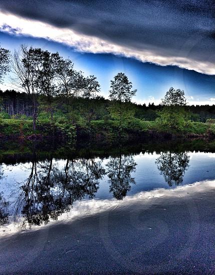 Reflections - Nashua River NH photo