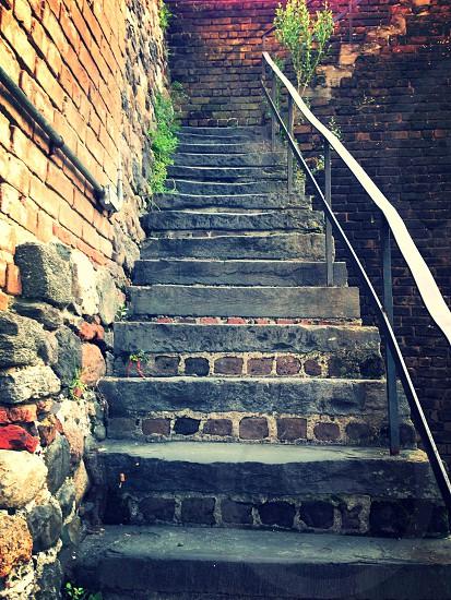 photo of grey stairs photo