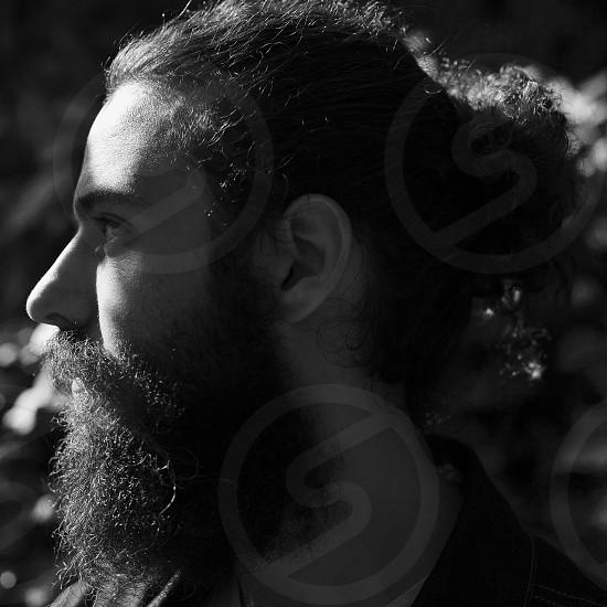 man with long beard photo
