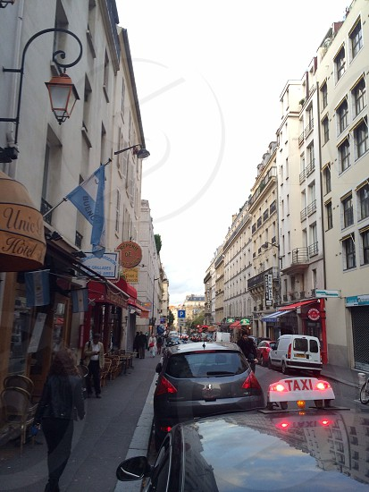 A street in Paris the city of love  photo
