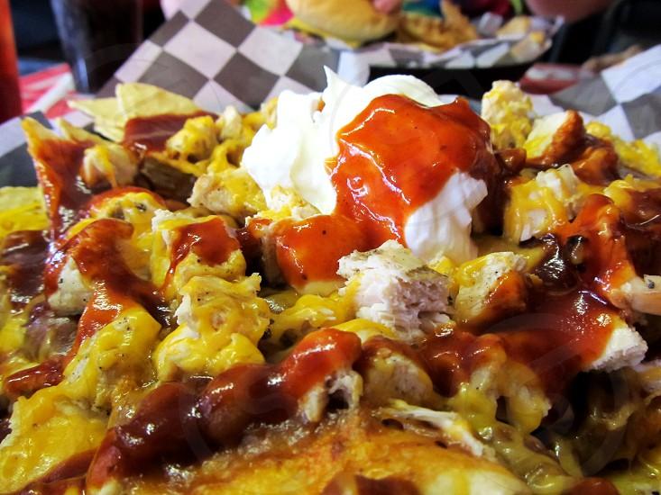 Barbecue nachos photo