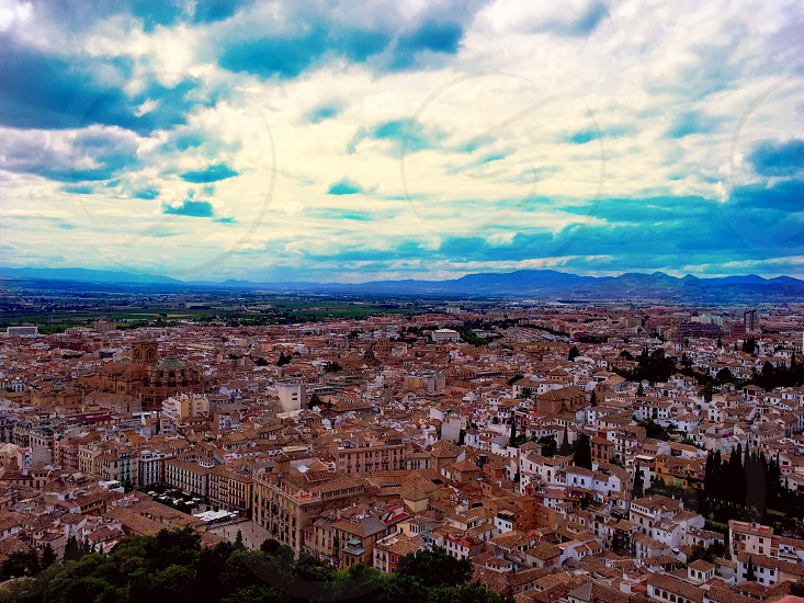 City buildings view sky Granada Spain.  photo