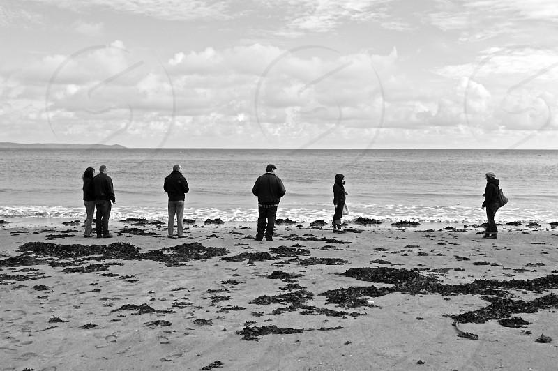 people on the beach photo