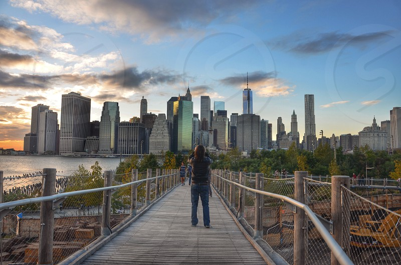 city skyscrapers photo